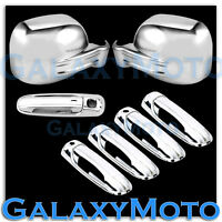 Chrome Mirror+4 Door Handle w/ PSG Keyho+Tailgate Cover for 02-07 JEEP LIBERTY