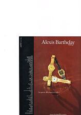 PUBLICITE  1980   ALEXIS BARTHELAY  horolger  collection montres  QUARTZ