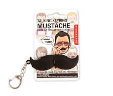 Talking Mustache Key Chain-Fun Mustache With Sound- Says Well Hello There- NEW