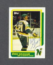 Dirk Graham signed Minnesota North Stars 1986-87 Topps rookie hockey card