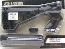 BLACKHAWK! Black SPECOPS 12-Gauge Shotgun Stock GEN III fits Remington 870!