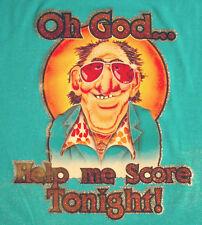 OH GOD HELP ME SCORE TONIGHT 70s T SHIRT IRON ON GEEK VINTAGE NERD HEAT TRANSFER