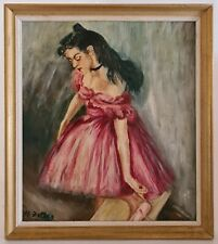 Tableau Huile sur Bois jeune Femme Danseuse signé MAX ZETTLER 1886-1926 XXème