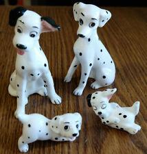 Four (4) Vintage Disney JAPAN 101 Dalmatians Porcelain Figurines - Excellent