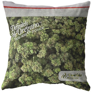 Bag of Weed Throw Pillow / Pillowcase - Funny Stoner Gift - Gifts for Weed Lover