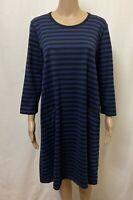 "Marimekko Dress Womens ~ Sz Large ~ Great Cond w/ Pockets Stripes Print "" TIIA """