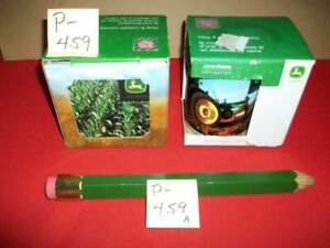 2- VINTAGE COLLECTIBLE JOHN DEERE COFFEE MUGS W/ COASTERS IN ORIG. BOXES + EXTRA