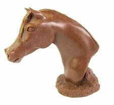 "Horse ""Jade"" Arab Sculpture  Quintessence Polished Brown Stone-Made UK"