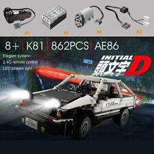 Initial D AE86 trueno 2.4G RC Car MOC Building Blocks