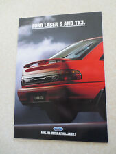 1993 Ford Laser S & TX3 automobile advertising booklet