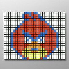 DIY Rubik's Cube Mosaic Red Angry Bird 63 Cube Kit