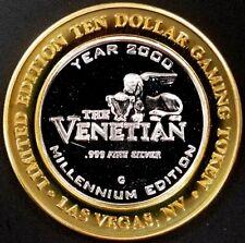 The Venetian Casino Ltd Ed. $10 Gaming Token, .999 Fine Silver! Campanile Tower!