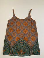 Women's CABI Size XS Tank Top Blouse Floral Pattern