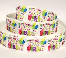 "GROSGRAIN RIBBON 7/8"" BIRTHDAY GIRL ( FREE SHIPPING )"