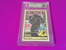 Brent Burns 2012-13 O-Pee-Chee Signed Auto Beckett SLABBED BAS