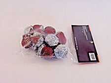12 Brown & Silver Glitter Acorns Crafts Fall Table AUTUMN HALLOWEEN DECORATION