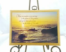 "VINTAGE HALLMARK SUNRISE OVER OCEAN HARPER ADAMS QUOTE 8"" X 6"" WALL PLAQUE #"