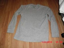 Faded Glory Gray Thermo Shirt Long Sleeve 65% Cotton 35% Polyester Boys Size L