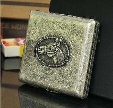 Horse's Head Personality Portable Copper Cigarette Case (Hold 20 Cigarettes)*