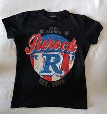 ReRock T-Shirt Kurzarm Rundhals Slim Fit Herrenshirt Freizeit Shirt Neu Gr. L