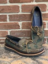COLE HAAN Camo Pinch Grand.0S Loafers Boat Shoes Canvas Men's Size 10.5 US