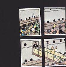 Herge Tintin Panini 1989 autocollant 4 im 25 26 27 28