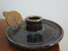 BEAUTIFUL 2005 LA JEANNE HAND CRAFTED POTTERY CANDLE HOLDER