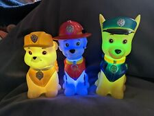 3x Paw Patrol Color Changing Night Lights - Marshall Chase & Rubble 🐾