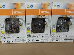 """3-Pack 3639 005 0067 NEW STIHL CHAINSAW CHAIN .325 16"""" 67DL .063 26RS 67"""
