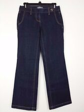 Ann Taylor Petites Womens Jeans Size 0P Signature Boot Cut Low Rise Dark Trouser