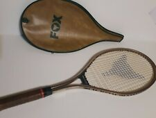 """Fox Titan Tennis Racket with 4 5/8"""" Leather Grip + Matching Cover"""