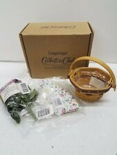 Longaberger Collectors Club Cc May Series Miniature Basket Combo Morning Glory
