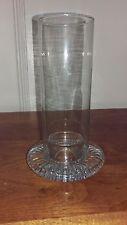 Dansk Design Hurricane Candle Holder Lamp Crystal
