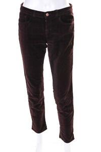 J Brand Womens Cotton Low Rise Skinny Leg Pants Wine Size 27
