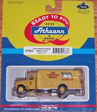 ATHEARN 91833 FIRE PROTECTION DISTRICT RESCUE TRUCK RESCUE # 214