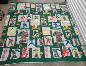 Vintage Mighty Morphin Power Rangers Full Comforter Blanket (Green Dot Pattern)