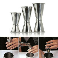 3 Size Jigger Single Measure Cup Double Shot Cocktail Wine Short Drink Bar