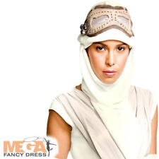 Rey Eye Mask Fancy Dress Star Wars Force Awakens Hood Adults Costume Accessory