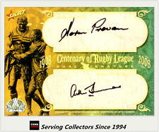 2008 Centenary NRL Master Set Oversize Duo Legend Signature Card Provan/Summons