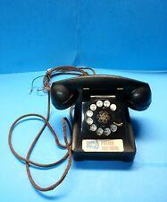 Vintage 1946 Model 302 WESTERN ELECTRIC Black Desk BELL SYSTEM Rotary Telephone