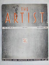 THE ARTIST MAGAZINE.CECIL ORR.R MOYNIHAN.GRAYSON.DEC 1946.VOL 32-NO 4.BW-COLOUR