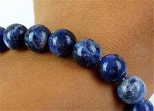 BR14 Natural Kyanite 10mm Round Beads Stretchy Bracelet Bangle