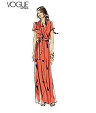 Vogue Easy Sew Pattern 8827 BOHO Maxi Wrap Draped Dress  6-14  OOP