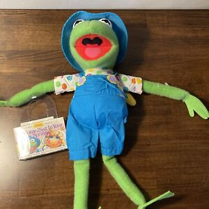 NEW 1993 Hasbro Kid Dimension Muppets Kermit the Frog with AudioTape Plush