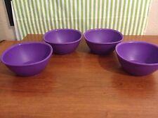 Tupperware Legacy Pinch Bowl Set of Four New 13oz Purple