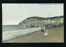 Wales Cardiganshire ABERYSTWYTH Lifeboat Launch c1900s PPC local pub Evans