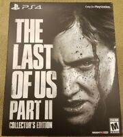 NEW The Last of Us Part II 2 Collector's Edition (PlayStation 4, PS4)