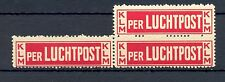 NEDERLAND 1920  AIRMAIL LABEL  ( 3 x)    **  VF RARE