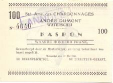 Waterschei  100 fr 1940