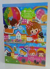 Vintage Rare Q-lia Japan Happy Yummy Kawaii Girls Large Memo Pad